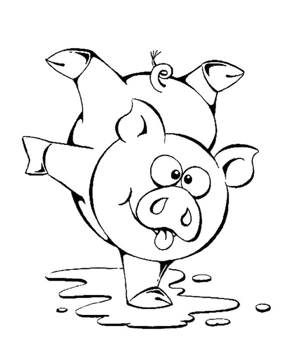 Dance Of The Pig Coloring Page