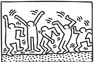 Dancing Figures by Keith Haring Coloring Page
