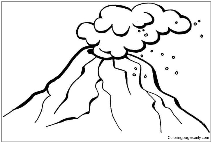 dangerous volcano coloring page - Volcano Coloring Pages