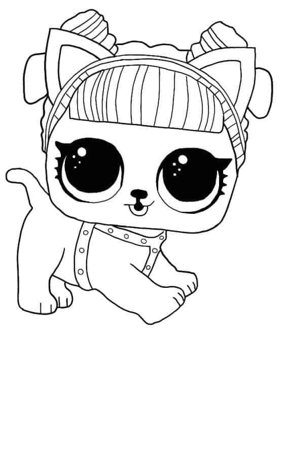 Lol Suprise Doll Daring Doggie Coloring Page