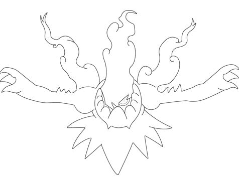 Darkrai Incinerating the Night From Pokemon Coloring Page