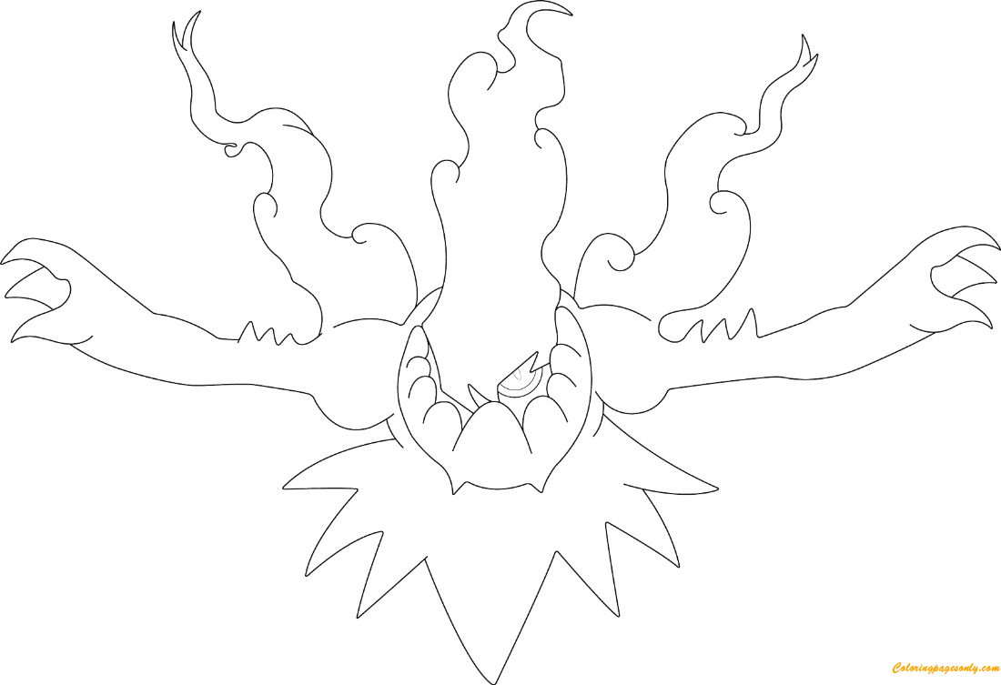 Darkrai Incinerating the Night From Pokemon Coloring Page - Free ...