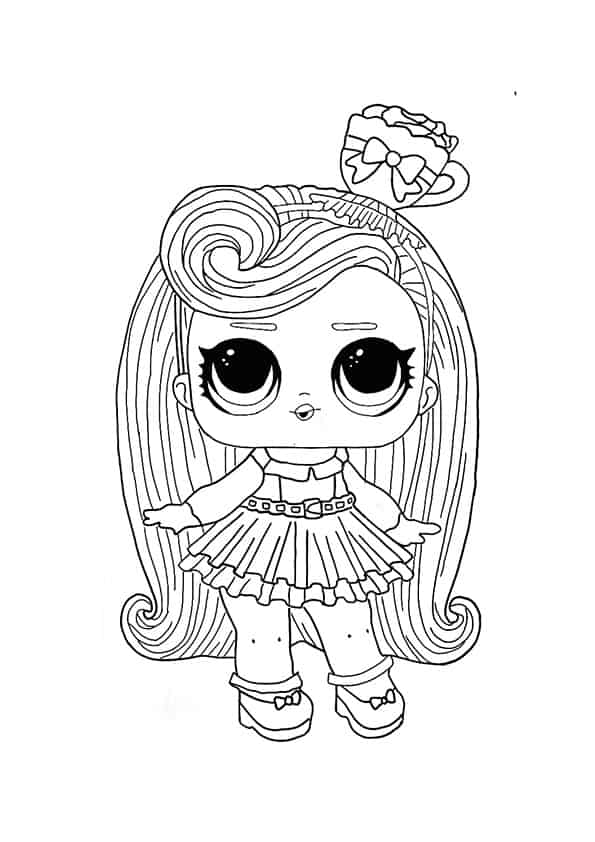 Lol Suprise Doll Darling Coloring Page