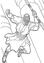 Darth Maul – Star Wars Coloring Page