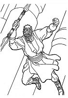 Darth Maul of Star Wars Coloring Page