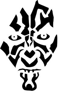 Darth Maul Star Wars Coloring Page