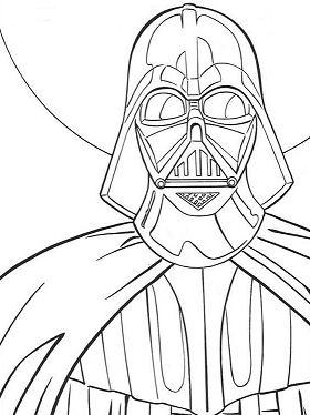 Darth Vader 1 Coloring Page