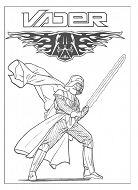 Darth Vader 3 Coloring Page