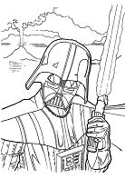 Darth Vader Character of Star Wars Coloring Page
