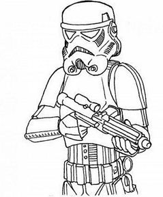 Darth Vader from Star Wars 1 Coloring Page