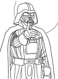 Darth Vader from Star Wars Coloring Page