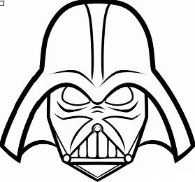 Darth Vader mask 1 Coloring Page