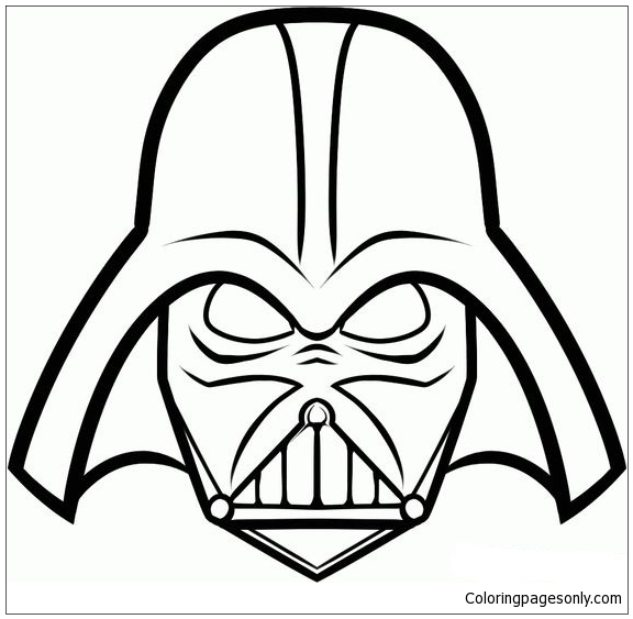 Darth Vader Mask 1 Coloring Page Free Coloring Pages Online