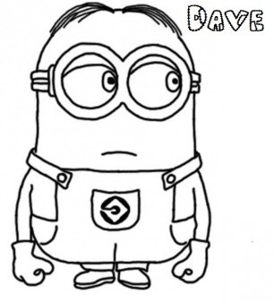 Dave The Minion Despicable Me 2 Coloring Page