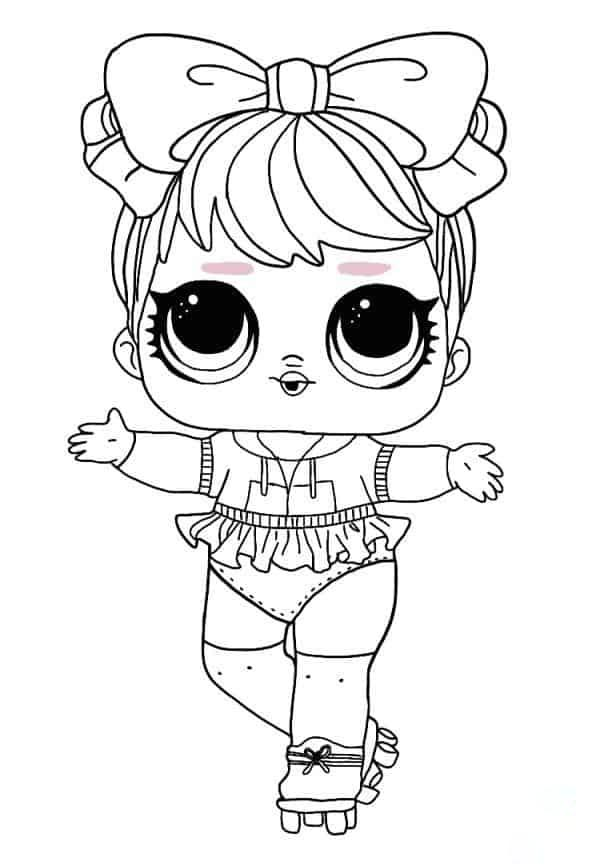 Lol Suprise Doll Dawn Coloring Page