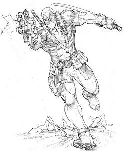 Deadpool – A Villain Coloring Page