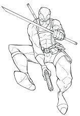 Deadpool 2 For Kids Coloring Page