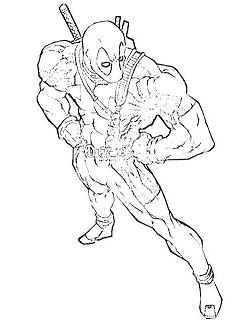 Deadpool 21 Coloring Page