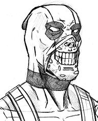 Deadpool 22 Coloring Page