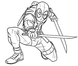 Deadpool 26 Coloring Page