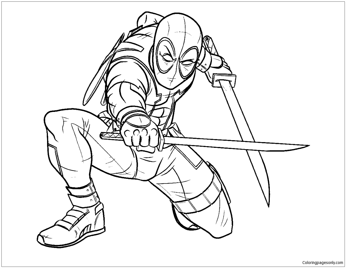 deadpool 26 coloring page free coloring pages