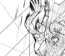 Deadpool And Spiderman 1 Coloring Page