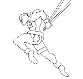 Deadpool Attack Coloring Page