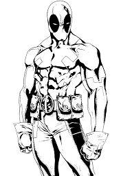 Deadpool La Force De Marvel Coloring Page