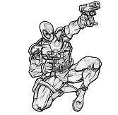 Deadpool Marvel Shoot Coloring Page