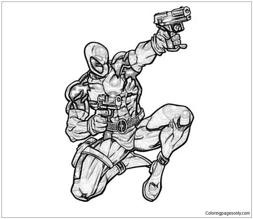 Deadpool Marvel Shoot Coloring