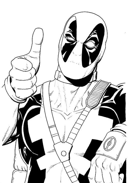 Deadpool number one Coloring Page