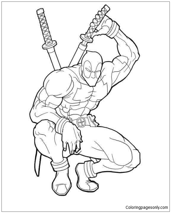 Deadpool Sequel Coloring Page Free Coloring Pages Online