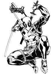 Deadpool Sketch Coloring Page