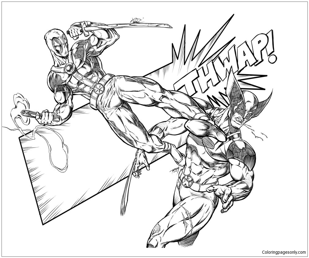 Wolverine #10 (Superheroes) – Printable coloring pages | 843x1006