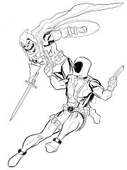 Deadpool vs. Taskmaster commission