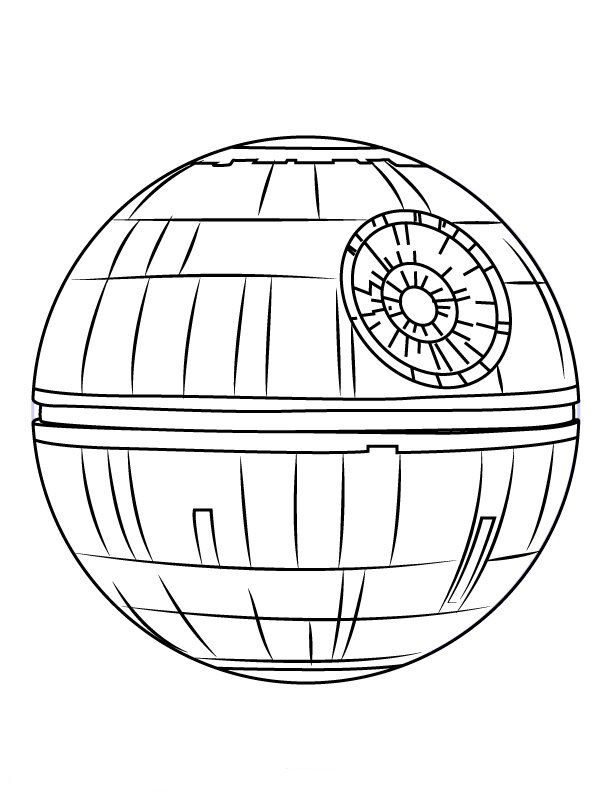 Death Star Ship Coloring Page