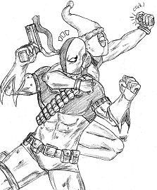 Deathstroke and Deadpool X-Mas Coloring Page