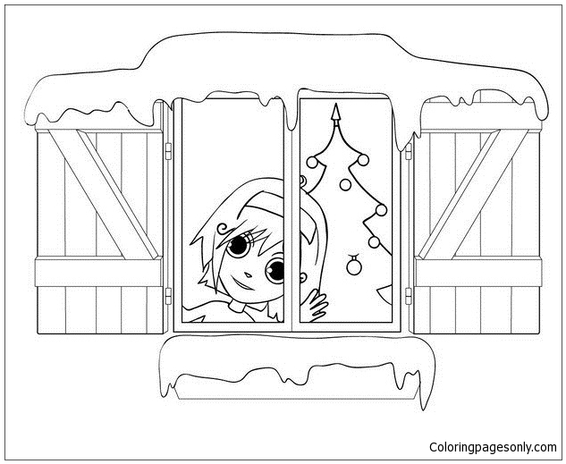 Decorated House Coloring Page