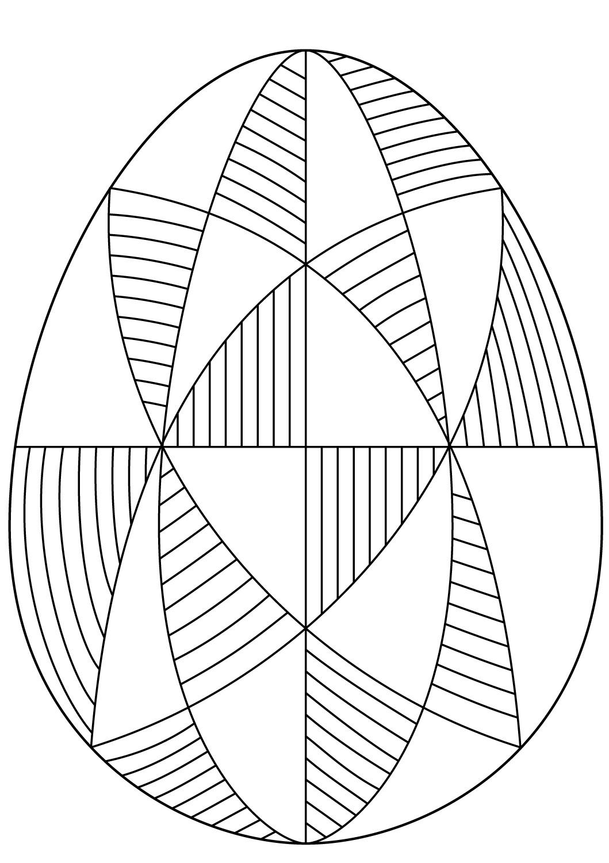 Decorative Easter Egg Spiral Pattern