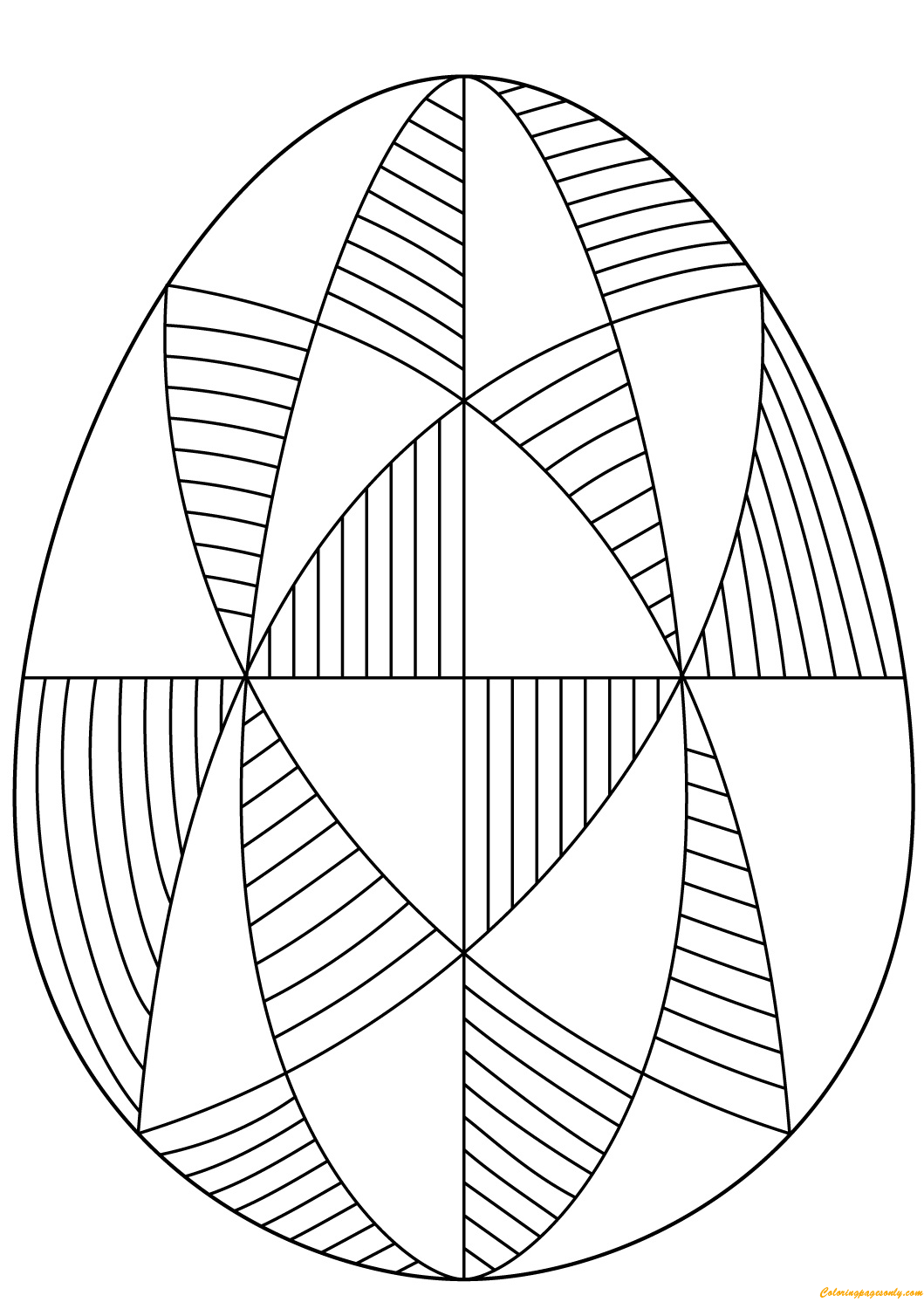 Decorative Easter Egg Spiral Pattern Coloring Pages Arts Culture Coloring Pages Free Printable Coloring Pages Online