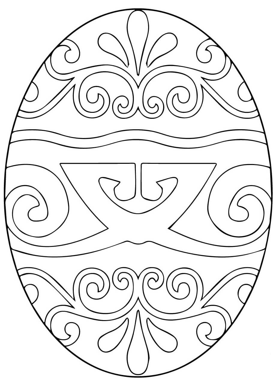 Decorative Easter Egg with Pysanka Ukrainian