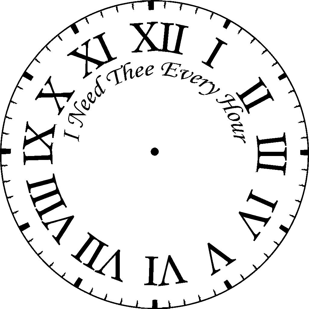 Decorative Roman Clock Coloring Page