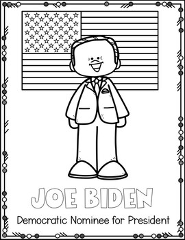 Democratic Nominee of President Coloring Page