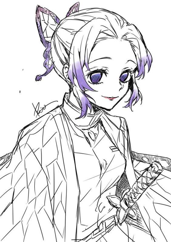 Demon Slayer Hinaki Ubuyashik Coloring Pages