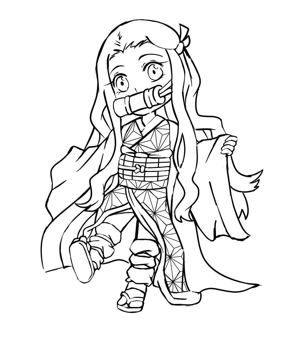 Demon Slayer Nezuko Coloring Page