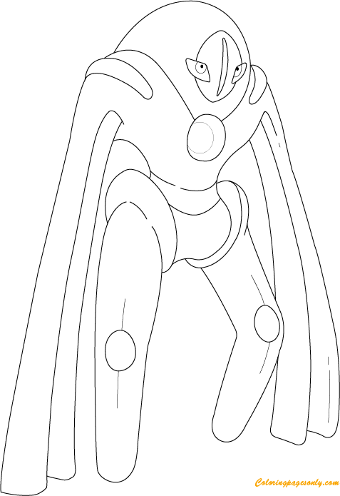 Deoxys In Defense Form Coloring Page Free Coloring Pages
