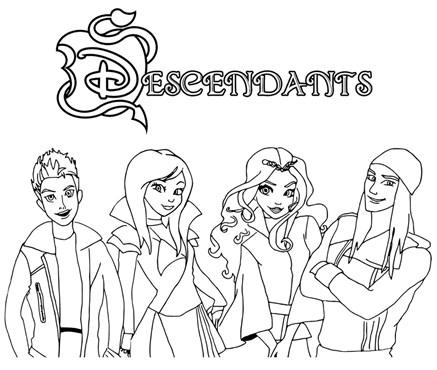 Descendants Home Coloring Page
