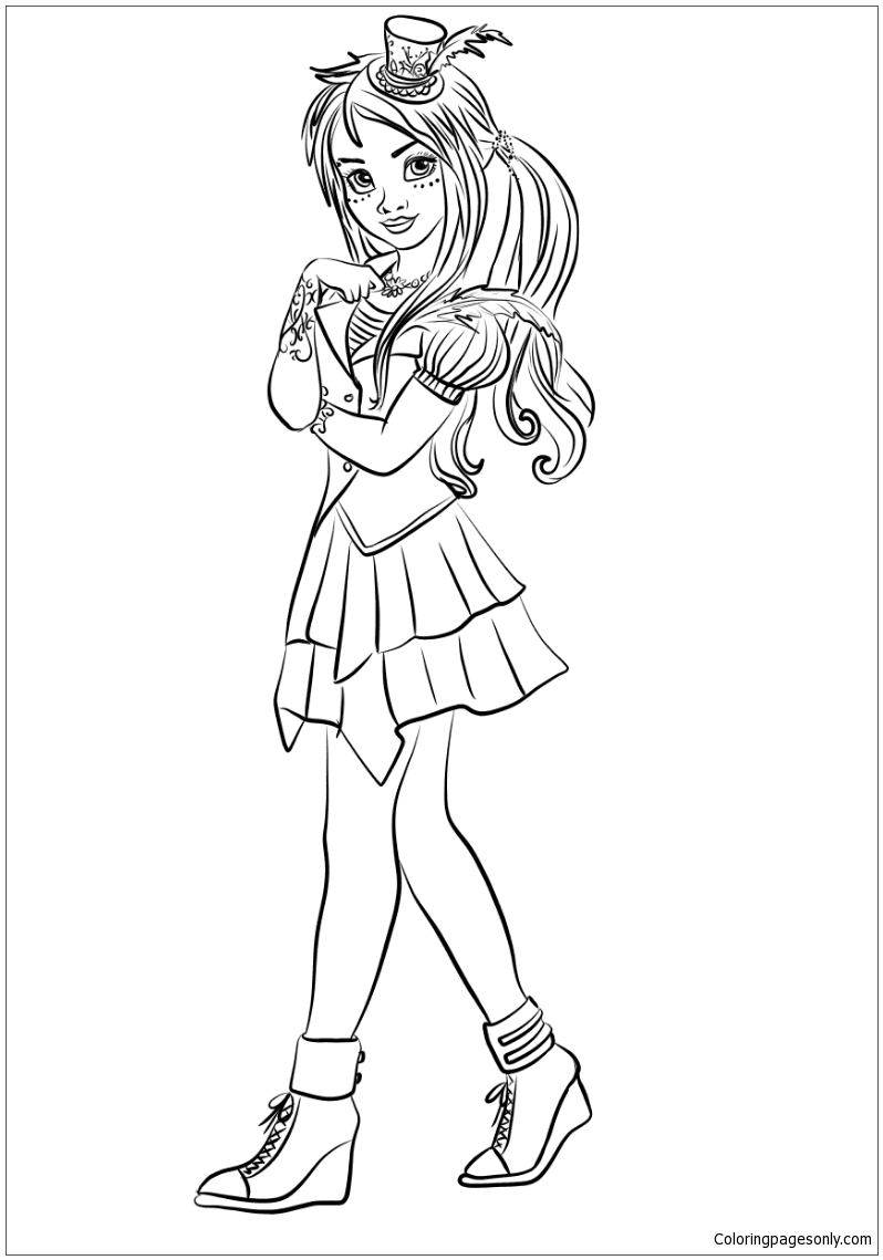 Descendants Wicked World Freddie Coloring Page