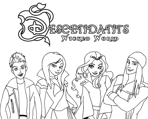 Disney Descendants Coloring Page - Free Coloring Pages Online