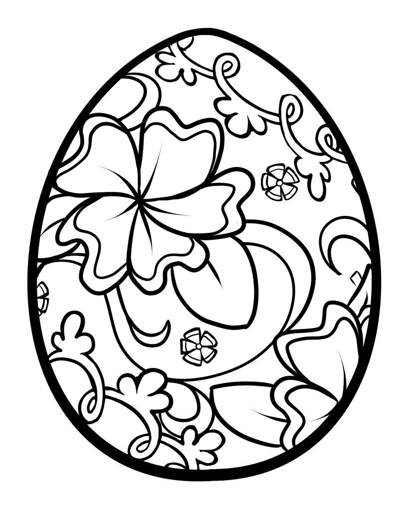 Design Flower Easter Eggs